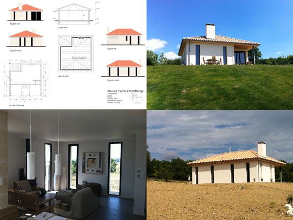 nieuwbouw van een paviljoen in Agnac