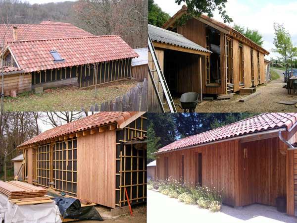 een atelier annex verblijfsruimte in houtskeletbouw